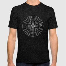 SOLAR SYSTEM Mens Fitted Tee Tri-Black X-LARGE