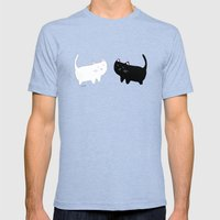 Cats Mens Fitted Tee Tri-Blue SMALL