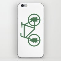 Pacific Northwest Cycling - Bike, Bicycle, Portland, PDX, Seattle, Washington, Oregon, Portlandia iPhone & iPod Skin