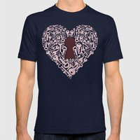 The Key To My Heart Mens Fitted Tee Navy SMALL