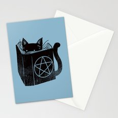 WITCHCRAFT CAT (Blue) Stationery Cards
