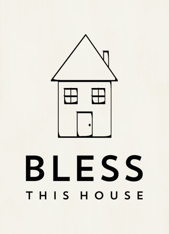 Bless this house - Cream Art Print