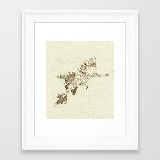 fish suit Framed Art Print