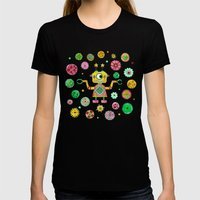 Robot Rita Womens Fitted Tee Black SMALL