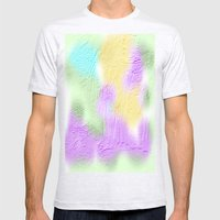 Water Color Painting And… Mens Fitted Tee Ash Grey SMALL