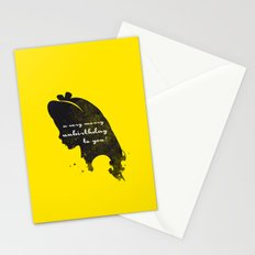 Unbirthday – Alice Silhouette Quote Stationery Cards