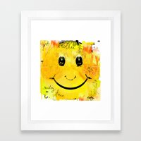 Just another smiley face Framed Art Print