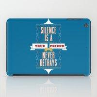 Silence Is iPad Case