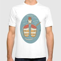 der Strumpf, die Sandale. Mens Fitted Tee White SMALL
