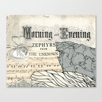 Morning And Evening Canvas Print