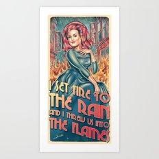 Set Fire To The Rain Art Print