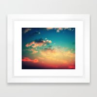 My Head is stuck in the Clouds Framed Art Print