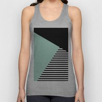 Mint Color Block With St… Unisex Tank Top