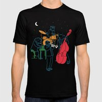 Animals Plays Jazz Mens Fitted Tee Black SMALL