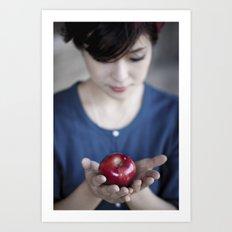Apple, My Sweet? (Snow White) Art Print