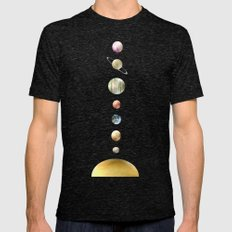 solar system Mens Fitted Tee Tri-Black SMALL