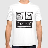 Universe Eyes Mens Fitted Tee White SMALL