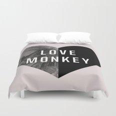 Love Monkey Duvet Cover
