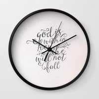 SHE WILL NOT FALL Wall Clock