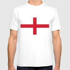 Flag of England (St. George's Cross) - Authentic version to scale and color Mens Fitted Tee White SMALL