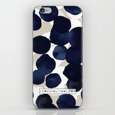 Indigo Velvet Dots iPhone & iPod Skin