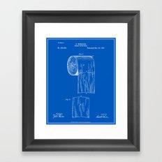 Toilet Paper Roll Patent… Framed Art Print