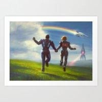Mass Effect Ending Art Print