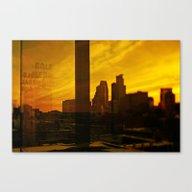 Golden Minneapolis Canvas Print