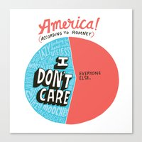 The 47% of America Romney Doesn't Care About Canvas Print