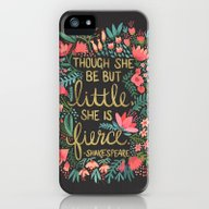 iPhone & iPod Case featuring Little & Fierce On Charc… by Cat Coquillette