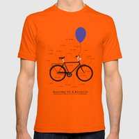 Anatomy Of A Bicycle Mens Fitted Tee Orange SMALL