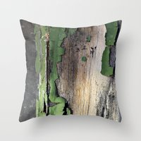 Green Peel Throw Pillow