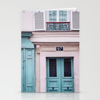 Paris Facades. Stationery Cards