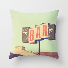 Bar. Los Angeles Photogr… Throw Pillow