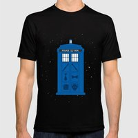 The Tardis Got Some Ink Mens Fitted Tee Black SMALL