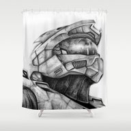 Master Chief Halo Shower Curtain