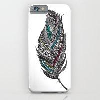 Single Aztec Feather  iPhone 6 Slim Case