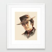 Clint Eastwood tribute Framed Art Print