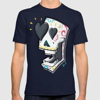 YOWZA Mens Fitted Tee Navy SMALL