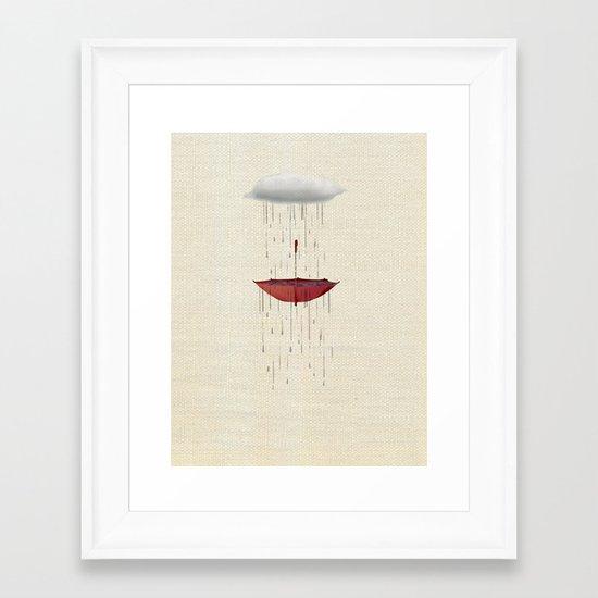 the umbrella runneth over Framed Art Print