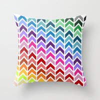 Upside Color Throw Pillow