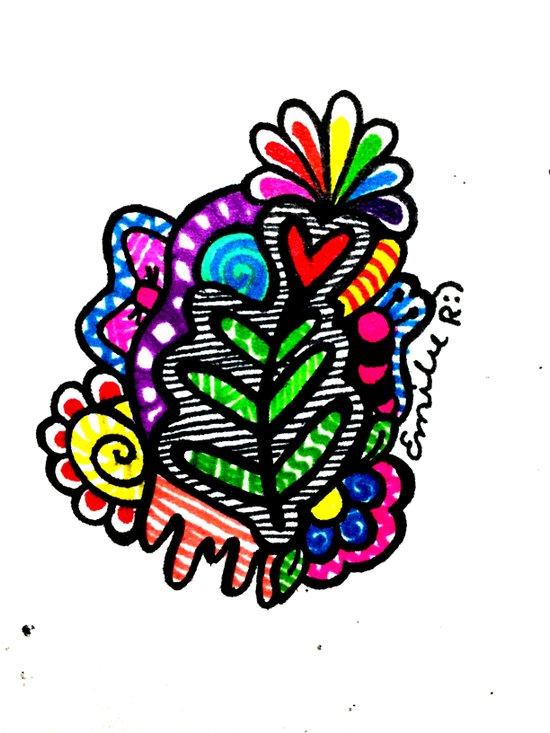 Rainbow Doodle Canvas Print