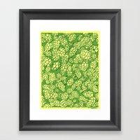 Floral Hops Framed Art Print