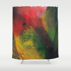 rapid movement Shower Curtain