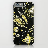 iPhone & iPod Case featuring Space Beard Guy by David Penela