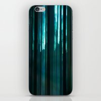 Forest In Emerald Green iPhone & iPod Skin