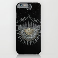 Moon and Stars Night Sky Mountain Range Arrow Mandala iPhone 6 Slim Case