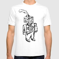 Smoke-bot Mens Fitted Tee White SMALL