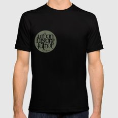 Urban History Futbol Mens Fitted Tee Black SMALL