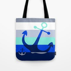 Navy Anchors: Beneath the Sea Tote Bag